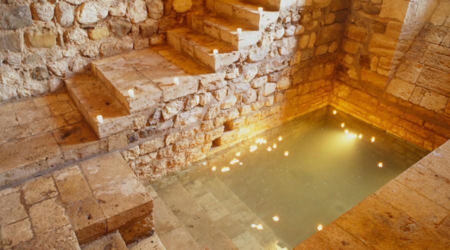 Bany espiritual jueu situat a Besalú