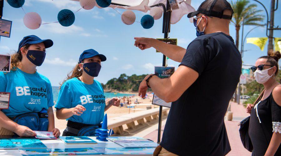 Visitants a Lloret de Mar, estiu 2020.Lloret Turisme